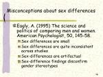 misconceptions about sex differences