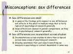 misconceptions sex differences