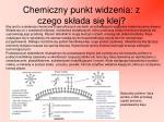 chemiczny punkt widzenia z czego sk ada si klej