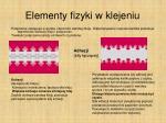 elementy fizyki w klejeniu