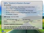 gm s central eastern europe