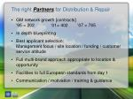 the right partners for distribution repair