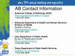 ab contact information