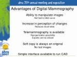 advantages of digital mammography