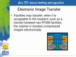 electronic image transfer