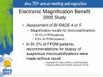 electronic magnification benefit 2005 study