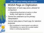 mqsa regs on digitization