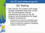 qc testing