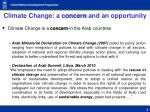 climate change a concern and an opportunity