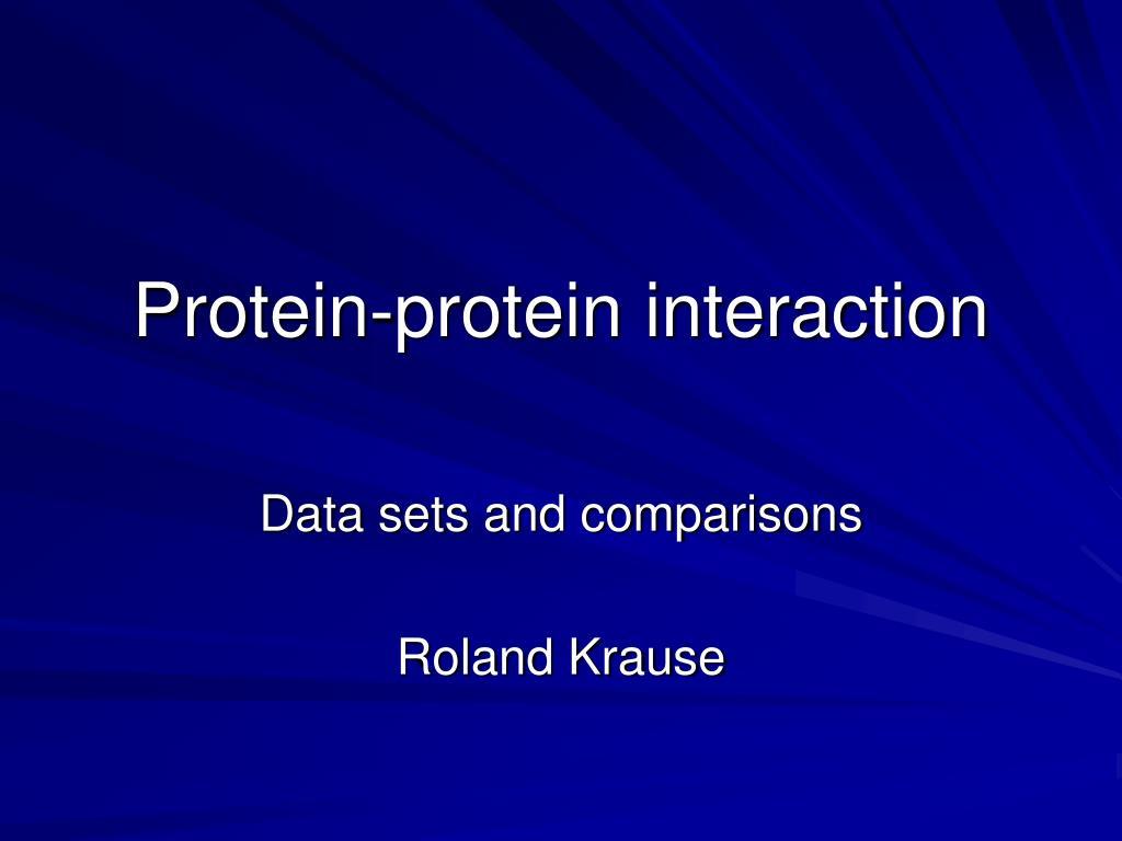 protein protein interaction l.