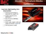 minimc miniature media converter