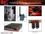 ticketing systems accesspoints
