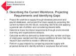 3 describing the current workforce projecting requirements and identifying gaps