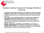 academy studies focused on strategic workforce planning