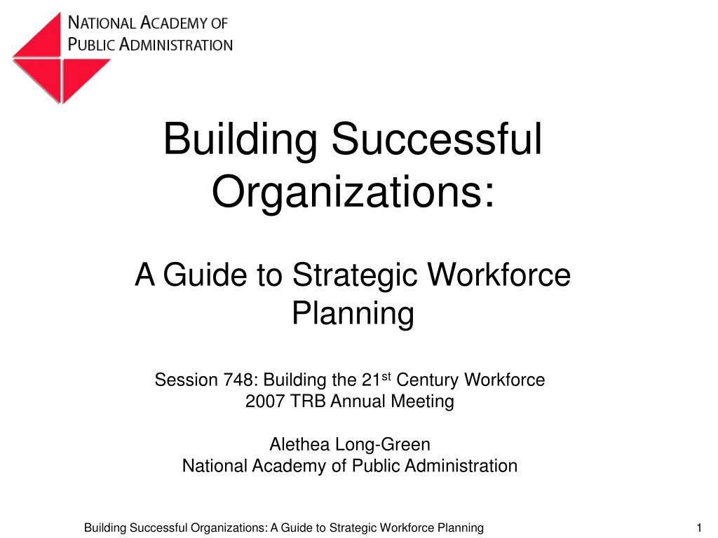 building successful organizations l.