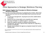 other approaches to strategic workforce planning