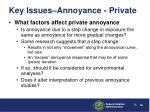 key issues annoyance private26
