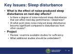 key issues sleep disturbance39