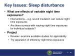 key issues sleep disturbance40