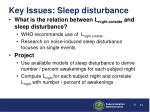 key issues sleep disturbance41