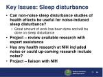 key issues sleep disturbance42