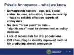 private annoyance what we know22