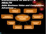 excellence in safety health adds business value and competitive advantage