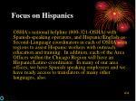 focus on hispanics33