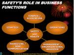 safety s role in business functions