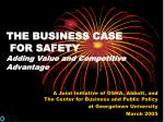the business case for safety adding value and competitive advantage