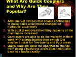 what are quick couplers and why are they popular
