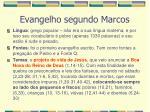 evangelho segundo marcos3