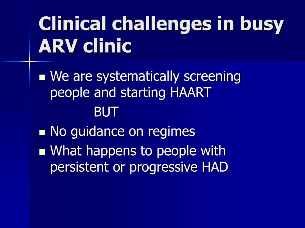 Clinical challenges in busy ARV clinic