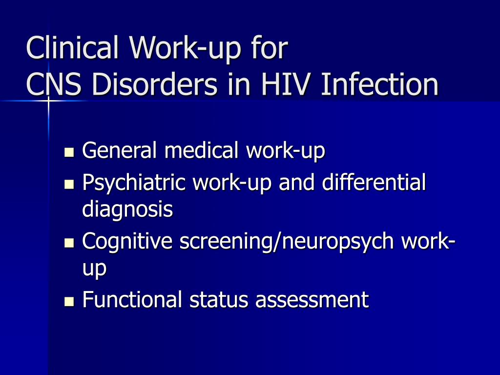 Clinical Work-up for