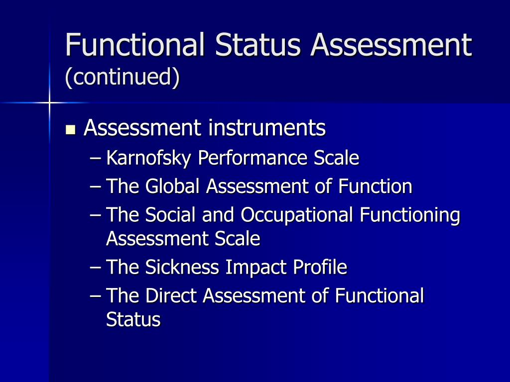 Functional Status Assessment