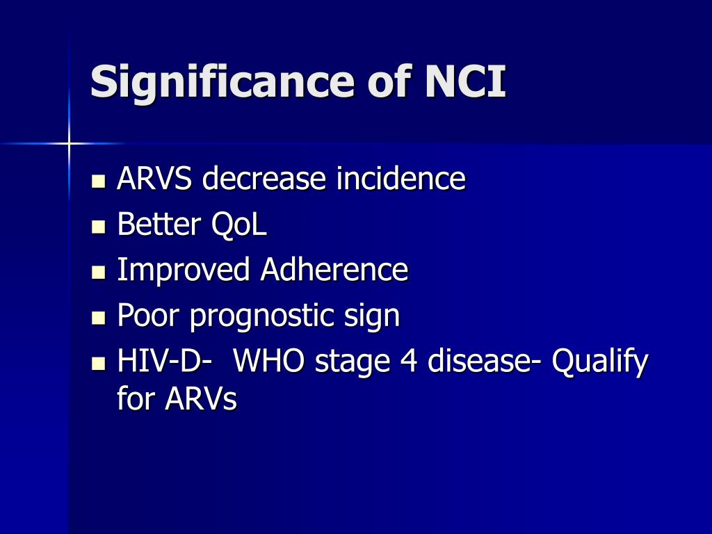 Significance of NCI