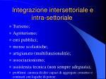 integrazione intersettoriale e intra settoriale