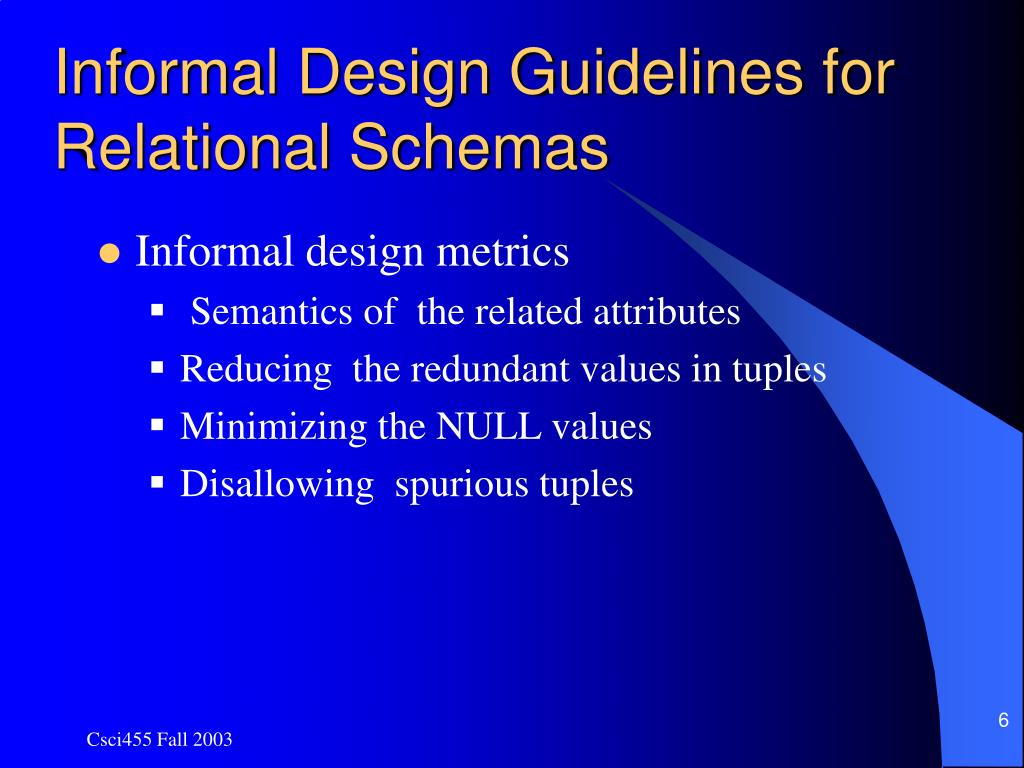 Ppt Chapter 10 Normalization Of Relational Database Powerpoint Presentation Id 714749