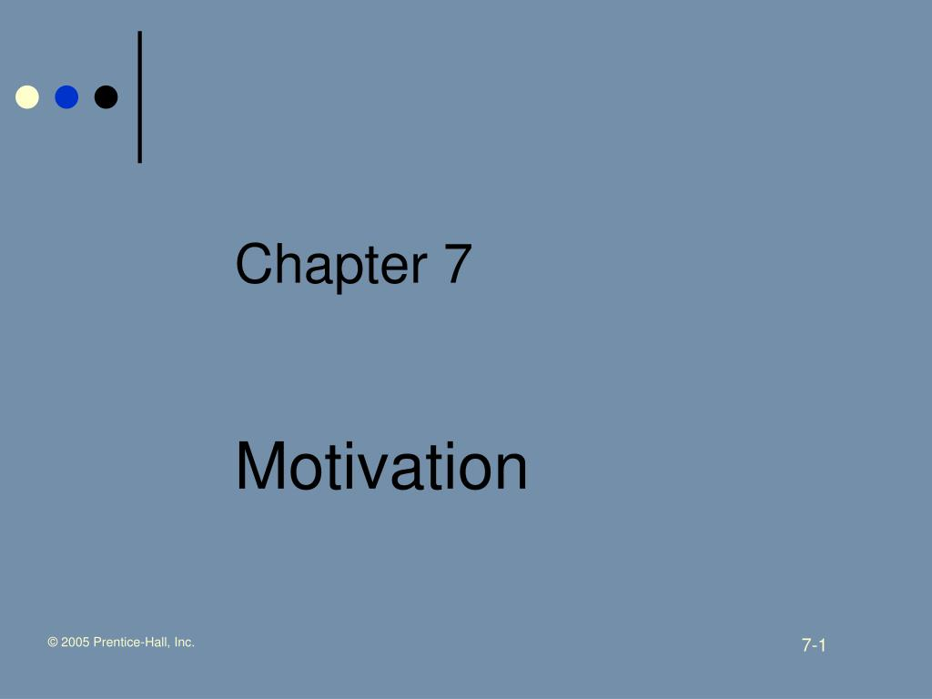 chapter 7 motivation l.
