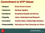 commitment to nyp values