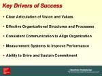 key drivers of success