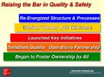 raising the bar in quality safety