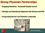 strong physician partnerships