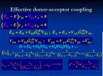 effective donor acceptor coupling