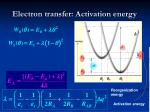 electron transfer activation energy