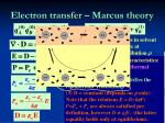 electron transfer marcus theory