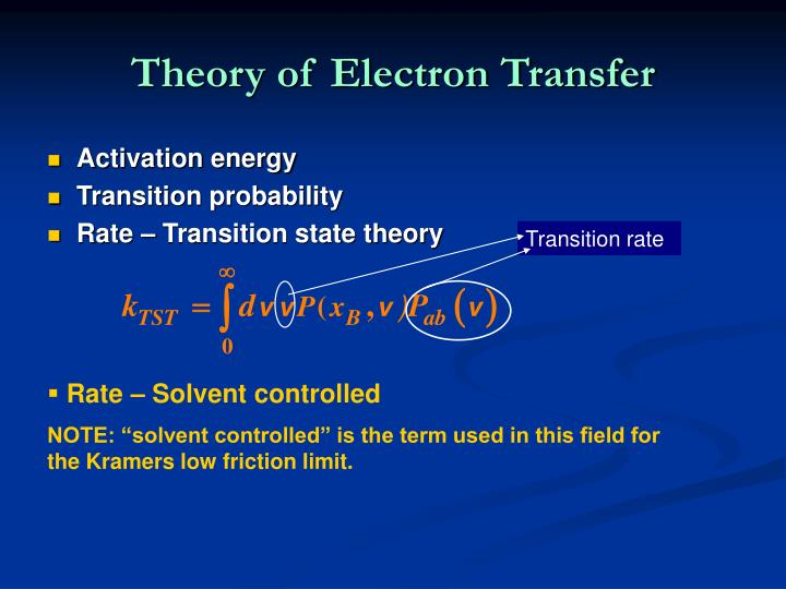 Theory of Electron Transfer