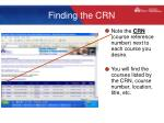 finding the crn