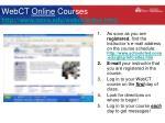 webct online courses http www nova edu webct index html