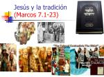 jes s y la tradici n marcos 7 1 23